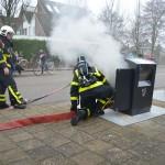 Containerbrand aan de Torenmolen in Barendrecht