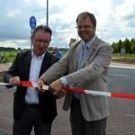 Nieuwe rotonde Leedeweg/Middeldijk officieel geopend in Barendrecht