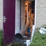 Brandweer schiet te hulp bij wateroverlast aan het Muziekplein in Barendrecht