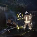 Brandje in aanhanger vol papier aan de Zeeg (Binnenlandse Baan) in Barendrecht