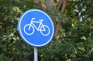 Verkeersbord fietspad