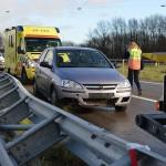 Ongeluk op afrit A29 bij Barendrecht