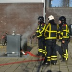 Containerbrand aan de Evertsenstraat in Barendrecht