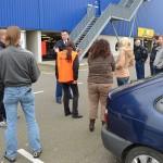 File veroorzaken uit protest tegen het kabinet, armoede en de EU op de A19 en A15 in Barendrecht