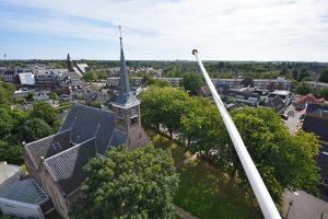 Uitzicht over Oude Dorpskern (Dorpskerk) vanuit de Watertoren in Barendrecht