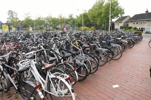 Fietsen in fietsenstalling, station Barendrecht