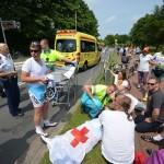 Gebroken rib bij ongeval Wielerronde Barendrecht