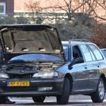 Klein auto-ongeluk op de Eerste Barendrechtseweg in Barendrecht