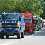 Truckrun 2013 doorkomst aan de 2e Barendrechtseweg