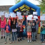 Kinderen spelen met plezier op speelpleintje aan de Chopinstraat in Barendrecht!