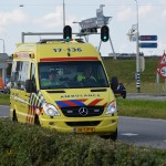 Ambulance op de Kilweg in Barendrecht