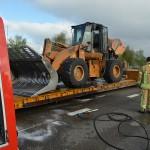 Brand in motor van shovel op afrit A29 Kilweg, Barendrecht