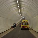 Ongeval bij racewedstrijd in Heinenoordtunnel, Barendrecht
