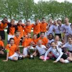 Schoolvoetbaltoernooi op sportpark de Bongerd en Smitshoek, Barendrecht