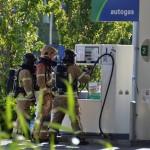 Kleine LPG lekkage bij tankstation Middelweg/Kilweg, Barendrecht