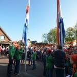 Aubade, Opening, Vlag hijsen, Kanga, Koningsdag Barendrecht 2014
