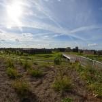 Archief: Carnisselande, Barendrecht vanaf de geluidswal A15
