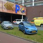 Auto's botsing bij uitrijden parkeergarage Carnisse Veste, Portlandsebaan Barendrecht