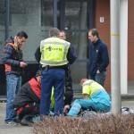 Motorrijder hard onderuit aan de Kolding in Barendrecht