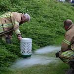 BBQ aan de Botter loopt met sisser af: lekkende gasfles (Barendrecht)