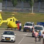 Traumahelikopter voor onwelwording naar IKEA Barendrecht (Hamburg)