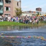 Eerste ronde van de Duckrace 2013 in Barendrecht