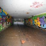 Graffiti kunstwerk in tunneltje park Buitenoord wordt vernieuwd
