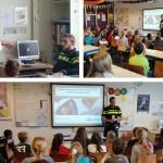 Leerlingen De Draaimolen krijgen les van de politie over smartphones (Barendrecht)