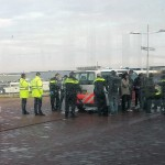Illegalen in vrachtwagen bij Bedrijventerrein-Oost aan de Dierensteinweg
