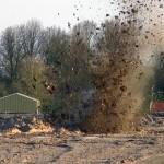 VIDEO: Granaat uit WOII tot ontploffing gebracht in de Zuidpolder, Barendrecht