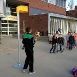 Leerlingen CBS Smitshoek maken kennis met korfbalvereniging T.H.O.R