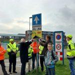 Eerste van de 65 officiële Buurtpreventie-borden onthuld in Barendrecht