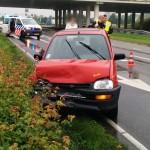 Vier auto's botsen achter op elkaar op de Kilweg in Barendrecht