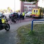 Aanrijding lesauto en fiets op de 1e Barendrechtseweg in Barendrecht