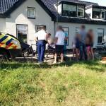 Meisje en man gewond bij aanrijding fiets en scooter aan de Voordijk in Barendrecht