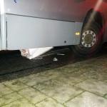 Bus rijdt opnieuw bussluis kapot aan de Spinetstraat in Barendrecht