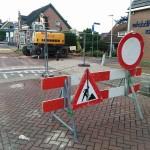 Dorpsstraat afgesloten voor aanleg van duiker (Barendrecht)