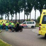 Motorrijder gewond bij ongeval op rotonde Portlandse Baan