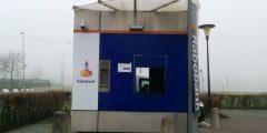 Vernielde Rabobank geldautomaat aan de Krullerhaven, Barendrecht