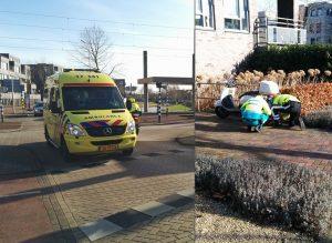 73-jarige vrouw op scooter remt (te) hard voor auto en komt ten val aan de Avenue Carnisse