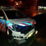 Politieauto beschadigd bij vluchtpoging inbrekers Pesetastraat in Barendrecht