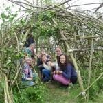 46 kinderen bouwen hutten in natuurgebied Koedood (Barendrecht / Rhoon)