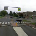 Google Streetview: Foto van de betreffende kruising: Binnenlandse Baan met de Gouwe in Barendrecht (© Google)