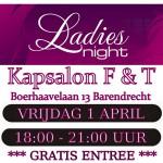 1 april: Gratis Ladies Night bij Kapsalon F&T