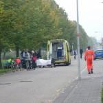 Traumahelikopter naar gewonde man aan de Rossinisingel (Spinetstraat) in Barendrecht