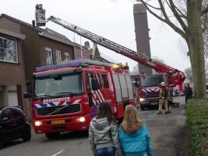 Schoorsteenbrand in woning aan de Voordijk in Barendrecht