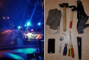 Twee mannen met inbrekerswerktuig aangehouden bij Kilweg