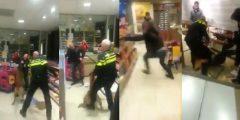 Video: Politie(hond) en omstanders overmeesteren verwarde man in tankstation Portland