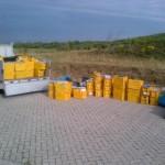 Tientallen kratten met post aangetroffen op parkeerplaats Vrijenburgweg Barendrecht