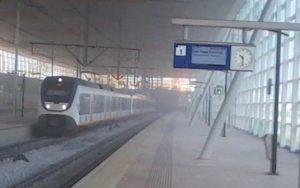 Station Barendrecht bedekt onder laag stof na werkzaamheden ProRail